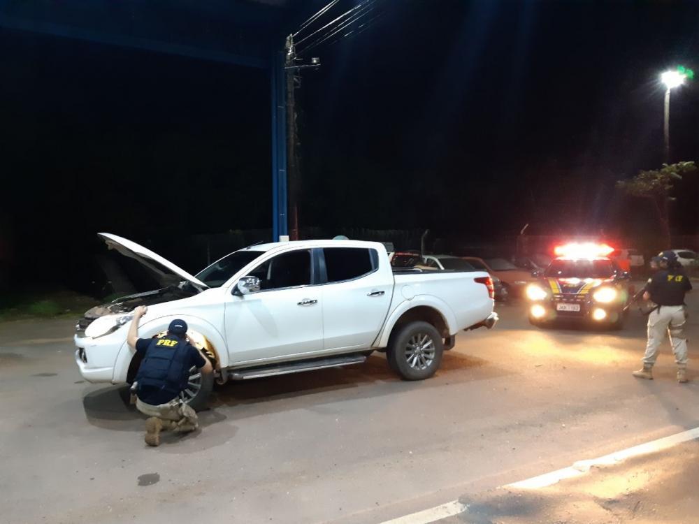 PRF recupera caminhonete furtada em Figueirópolis e que seria levada para Goiás