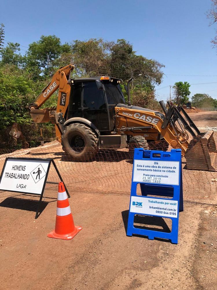 BRK Ambiental divulga cronograma da semana das obras de redes de esgoto em Gurupi