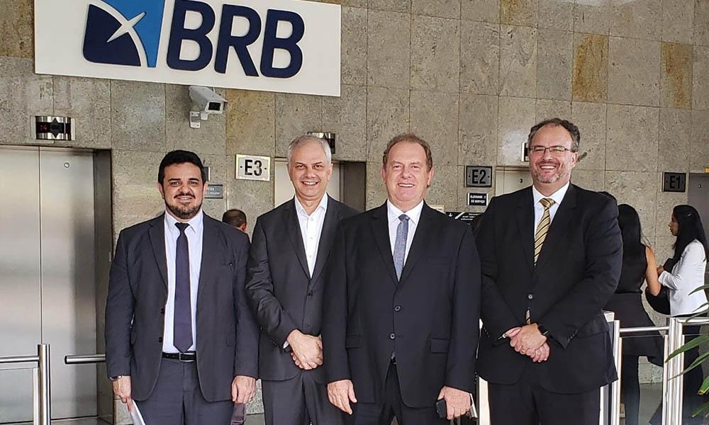 Governador Mauro Carlesse debate com BRB linha de crédito de R$ 1 bilhão para o Tocantins